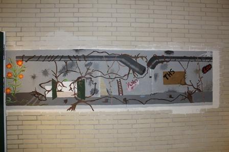 Pinneberg: Eine Birke wuchs durch einen alten Schornstein